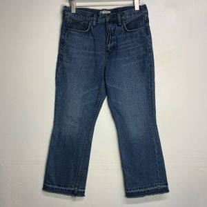Free people raw hem 'mom' jeans high waist size 28